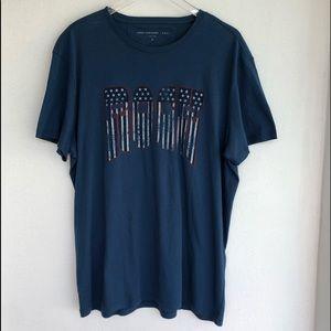 John Varvatos Shirts - John Varvatos Star USA ROCK Graphic Tee XL Blue